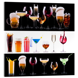 Acrylic glass  drinks  - beer, wine, cocktail, juice, champagne, scotch, soda