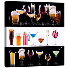 Canvas print  drinks - beer, wine, cocktail, juice, champagne, scotch, soda