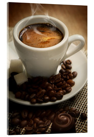 Acrylic print  Small cup of Espresso