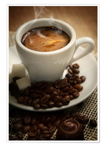 Premium poster Small cup of strong coffee