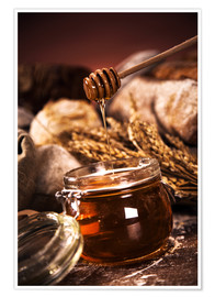 Premium poster  Forest Honey in jar