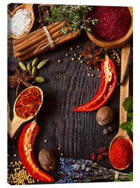 Canvas print  Hot spices and herbs