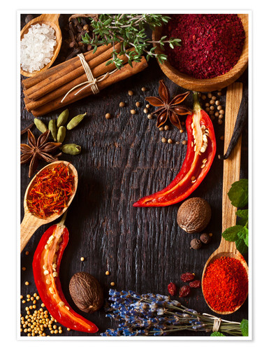 Premium poster Hot spices and herbs