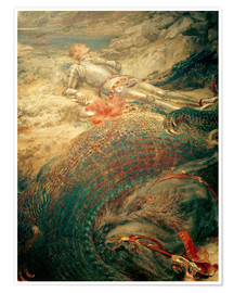 Poster  Saint George and the Dragon - Briton Riviere