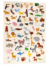 Acrylic glass  Animal World - Kidz Collection