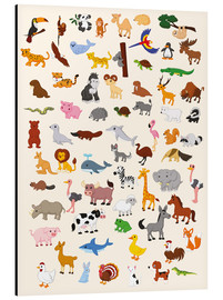 Aluminium print  Animal World - Kidz Collection
