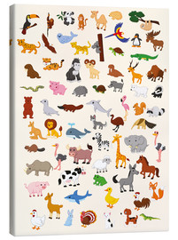 Canvas print  Animal World - Kidz Collection