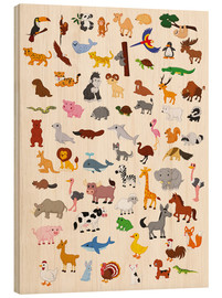 Wood print  Animal World - Kidz Collection