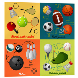 Acrylic glass  Do some sports - Kidz Collection