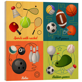 Wood print  Do some sports - Kidz Collection