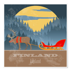 Poster  Finland - Lapland
