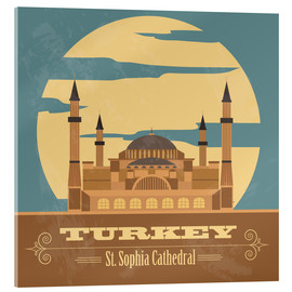 Acrylic glass  Turkey - Hagia Sophia