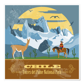 Poster  Chile - Torres del Paine