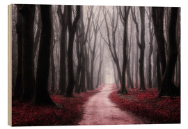 Wood print  Red Reverie - tvurk photography