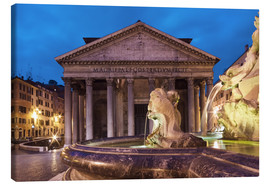 Canvas print  Pantheon at twilight, Rome, Italy - Circumnavigation