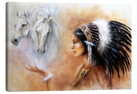 Canvas  American Indian with horses