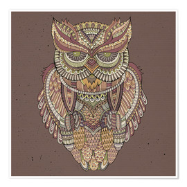 Premium poster  Owl - colours of the forest