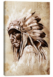 Canvas  Elder native American