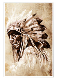 Poster  Native American elder