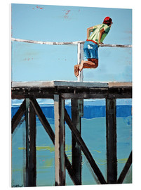 Foam board print  On The Jetty - Claire McCall