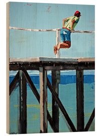 Wood print  On The Jetty - Claire McCall
