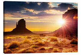 Canvas print  Sunset in Monument Valley, USA