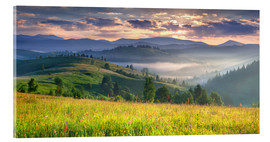 Acrylic print  Sunrise in the mountains