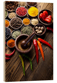 Wood print  Healthy Spice Kitchen