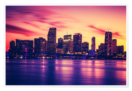 Miami at sunset, USA