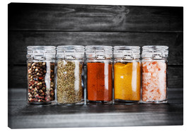 Canvas print  Spices in glass