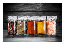 Poster Spices in glass