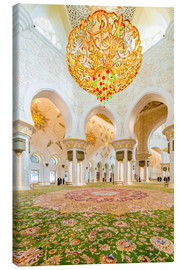 Canvas print  Sheikh Zayed mosque in Abu Dabi