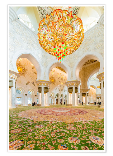 Poster Sheikh Zayed mosque in Abu Dabi