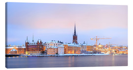 Canvas  Panoramic cityscape of Stockholm, Sweden