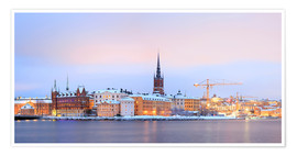 Premium poster  Panoramic cityscape of Stockholm, Sweden