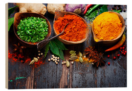 Wood  Colorful spices diversity