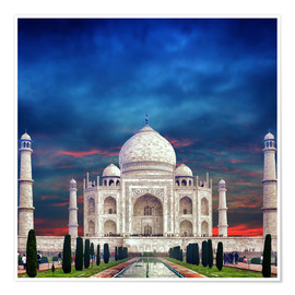 Premium poster  Taj Mahal in India
