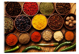 Acrylic print  Hot spice mix