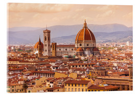 Acrylic print  Florence Cathedral in evening light