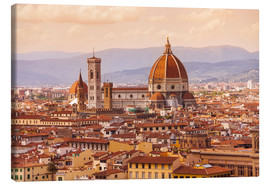 Canvas print  Florence Cathedral in evening light
