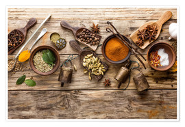 Premium poster  Spices and kitchen utensils