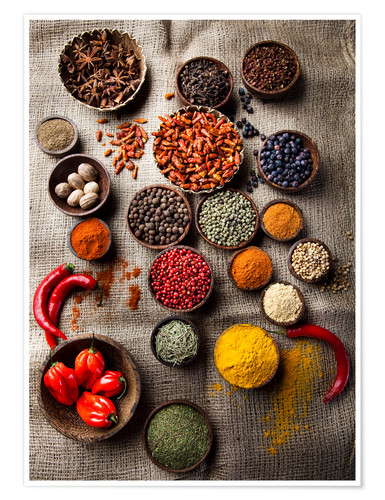Spice Bowls Posters And Prints Posterlounge Co Uk