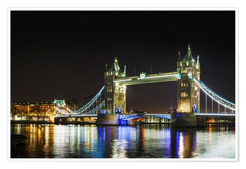 Premium poster Tower bridge at night
