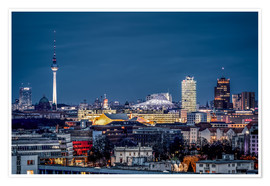 Premium poster Potsdamer Platz Berlin at Night