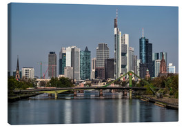 Canvas  Skyline Frankfurt am Main Shining Morning - Frankfurt am Main Sehenswert