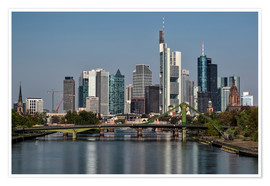 Premium poster  Skyline Frankfurt am Main Shining Morning - Frankfurt am Main Sehenswert