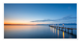 Premium poster Chiemsee at sunrise / landscape