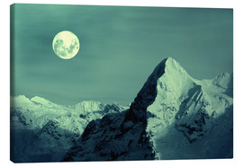 Canvas print  Full Moon on the Eiger - Gerhard Albicker