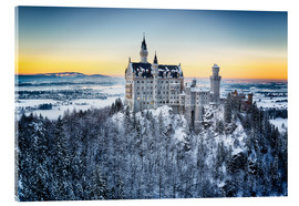 Acrylic print  Neuschwanstein in the snow