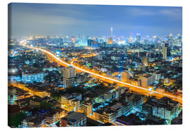 Canvas print  Bangkok downtown Skyline at night
